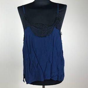 Zara Blue/Black Cami NWT